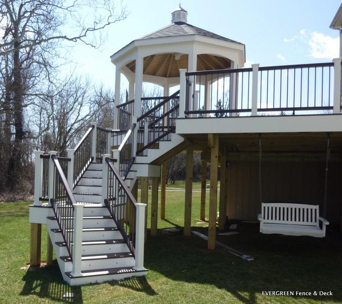 Evergreen Fence Deck Gazebo Gallery
