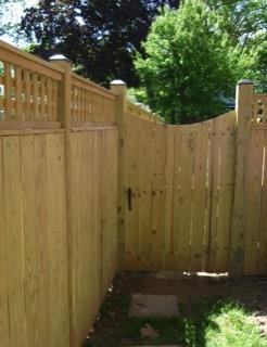 W Swlsq Gwd Backside C Evergreen Fence Amp Deck
